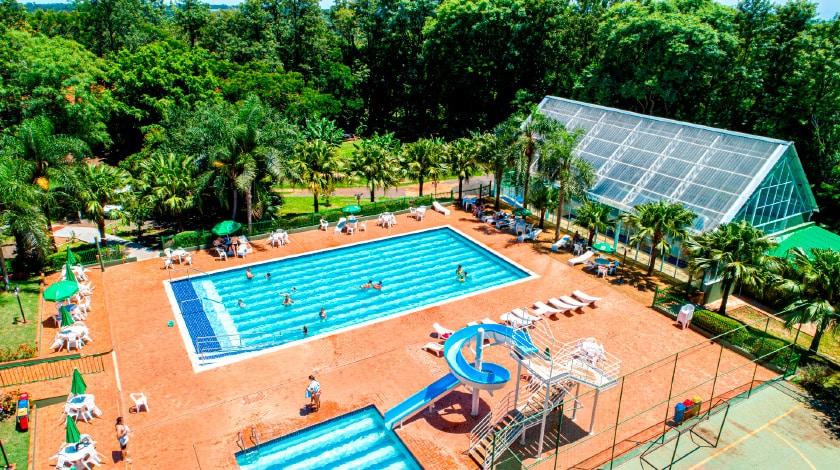 Foto da piscina do Nacional Inn Foz do Iguaçu.