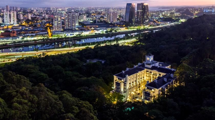 Vista aérea do Palácio Tangará, em São Paulo