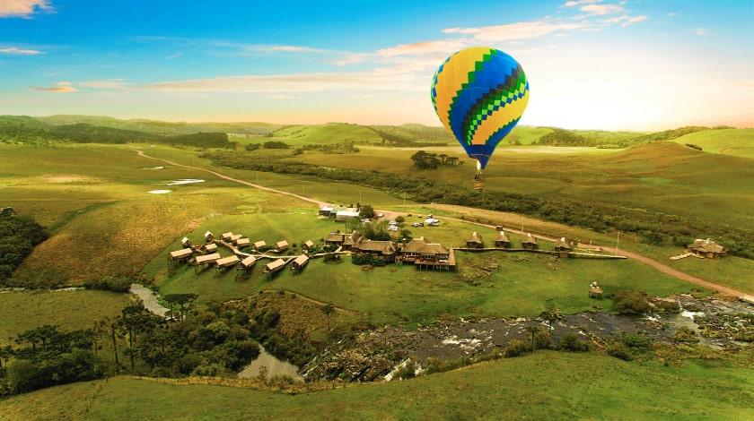 Vista aérea do Parador Casa da Montanha