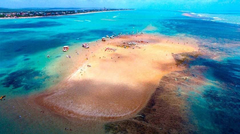 Ilha da Areia Vermelha, em Cabedelo, na Paraíba