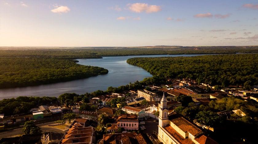 Vista aérea da Praça São Frei Pedro Gonçalves, em João Pessoa - PB