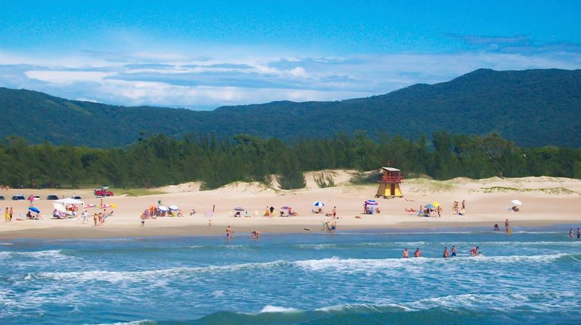 Praia da Ferrugem, em Santa Catarina