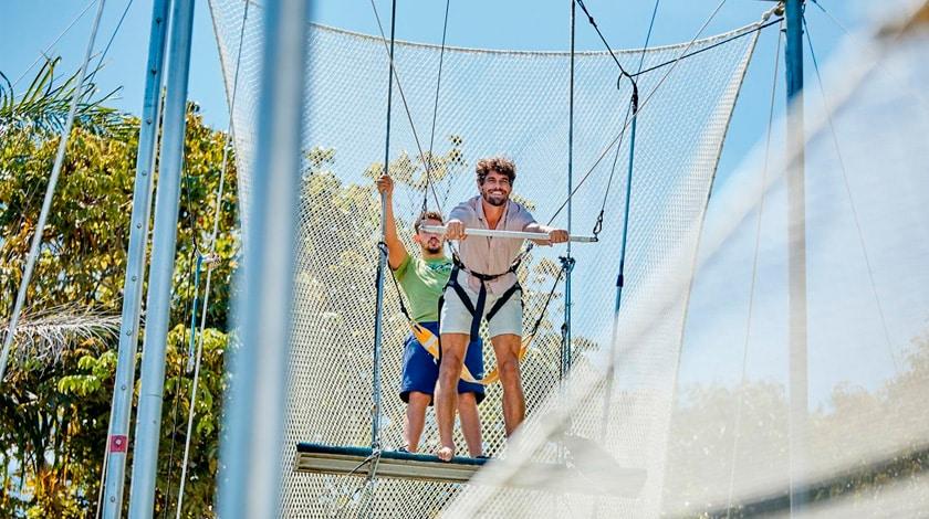 Trapézio voador do Club Med