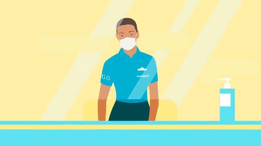 Ilustração da recepção Club Med