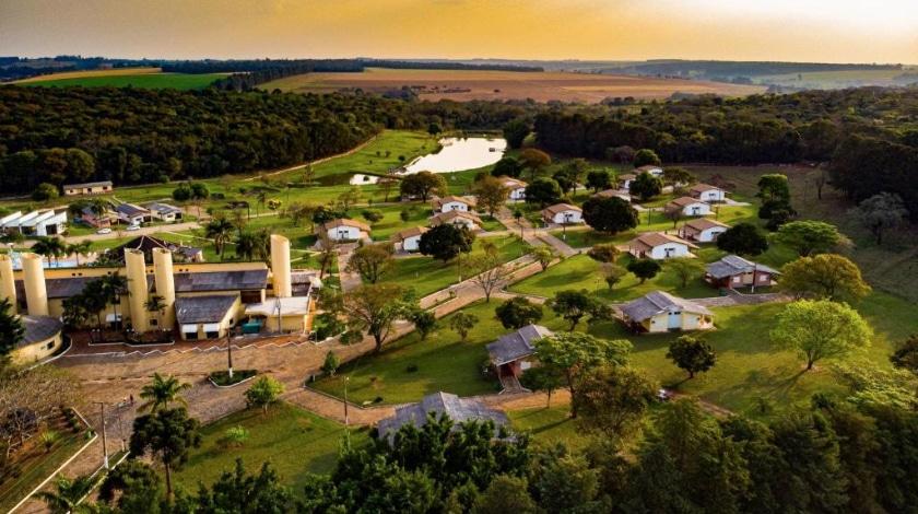 Vista aérea Hotel Fazenda Vale das Águas